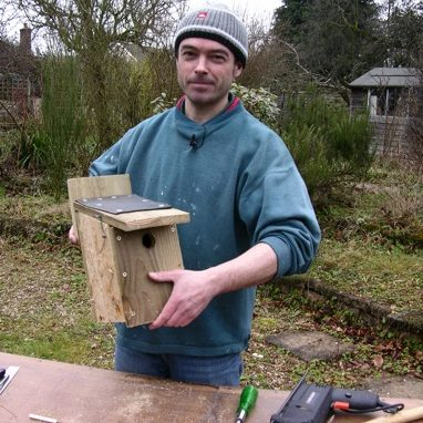 Andy with his finished bird box