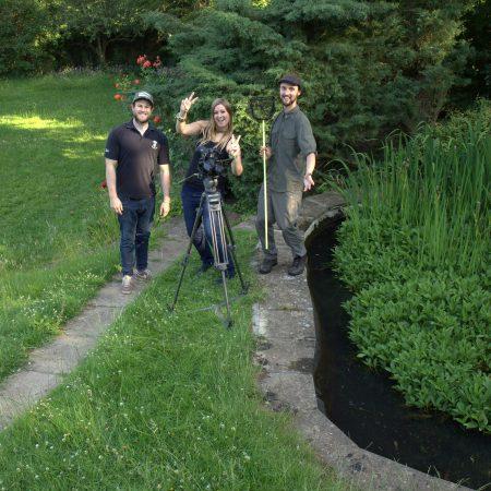 Reptiles and amphibians film shoot