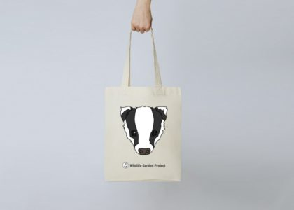 A tote bag with badger design