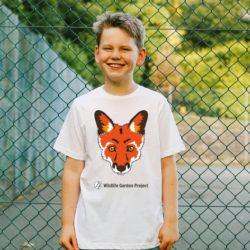 Child wearing fox t-shirt