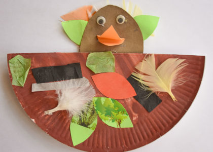 Bird in nest craft project